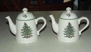 spode tree teapot salt pepper shakers made in