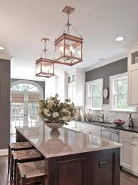 Light Pendants Kitchen by Kitchen Copper Kitchen Lights Intended For Voguish Home Decor