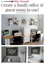 Office Guest Bedroom - a family office and guest room in one home office that functions