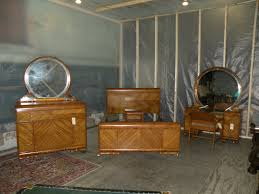 Bedroom Furniture Sets Full by Beautiful Antique Art Deco Waterfall Furniture Bedroom Set Full