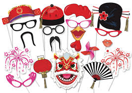 chinese new year party photo booth party props set 35 piece