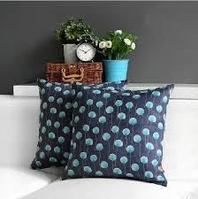 Decorative Pillows For Sofa by Floral Throw Pillows Creative Blue Sofa Pillow For Interior Design
