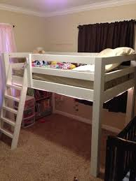 Twin Loft Bed Plans by Free Woodworking Plans To Build A Twin Low Loft Bunk Bed Loft
