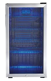 Small Commercial Refrigerator Glass Door by Amazon Com Danby 120 Can Beverage Center Stainless Steel