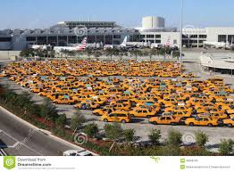 Miami International Airport Terminal Map by Yellow Taxi Cab Parking Lot At Miami International Airport Florida