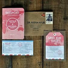 passport wedding invitation set u0026 save the date card or magnet