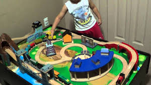 how to put imaginarium train table together charming imaginarium classic train table with roundhouse wooden