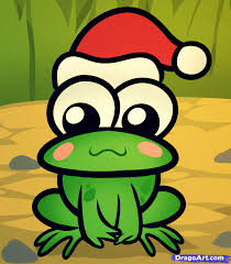 how to draw a christmas frog step by step christmas stuff
