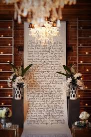 wedding vow backdrop inspired by our metallic wedding shoot modern