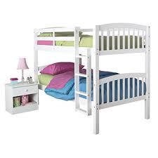 Linon Bunk Bed Fingerhut Linon Mission Bunk Bed With Mattresses White