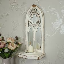 Wall Mounted Candle Sconce Gothic Style Mirrored Candle Sconce Melody Maison