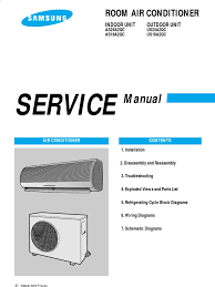 samsung as18a2qc service manual air conditioning electrical