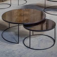 round nesting coffee table bronze round nesting coffee table set habitusfurniture com