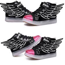 size 5 light up shoes dogeek light up trainers kids boy grils athletic wings 7 colors