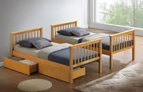 Buy Bed Online Modern Beech Childrens Bunk Bed With Drawers