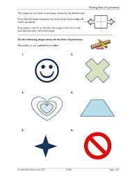 Symmetrical Shapes Worksheets Ks3 Symmetry Teachit Maths