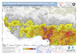 Rainfall Totals Map Total September Rainfall Accumulation For West Africa 2007 Unitar
