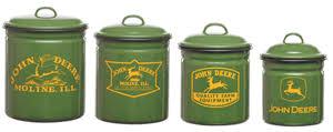 deere kitchen canisters deere enamelware canister set deere