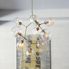 Yellow Glass Ceiling Light Branching Bubble Ceiling Lights Retro Loft Vintage Clear Smoke