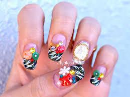 christmas nail art attractive christmas holiday nail art design