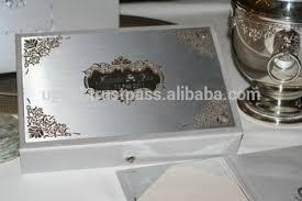 silver wedding invitation cards with acrylic mirror wholesale