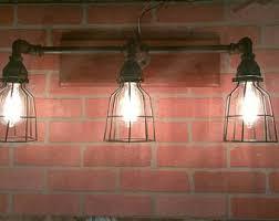 Galvanized Vanity Light Industrial Vanity Light Galvanized Pipe Light Fixture