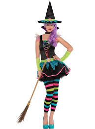 Witch Ideas For Halloween Costume Teen Girls Neon Witch Costume Party City Fashion Wear