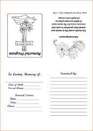 memorial service programs templates free 12 free printable funeral program template authorizationletters org