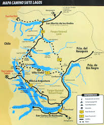 Patagonia Map Lake District Tours Trails U0026 Points Of Interest