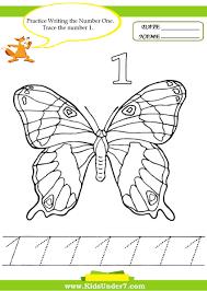 kids under 7 number tracing 1 10 u2013 worksheet part 2