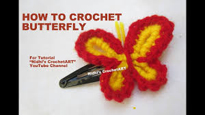 butterfly for hair how to crochet simple butterfly for hair pin keychain