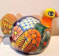 Handmade Mexican Pottery - talavera turkey animal figure decor 9 handmade mexican pottery