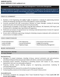 Sample Resume Format For Civil Engineer Fresher by Civil Engineering Resume For Freshers Download Cv Format Pdf U0026 Word