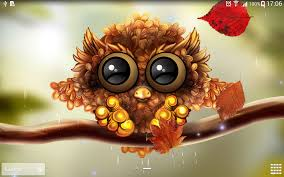 romantic halloween background autumn little owl wallpaper android apps on google play