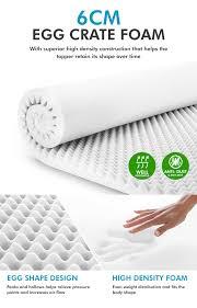 queen egg crate foam mattress topper crazy sales