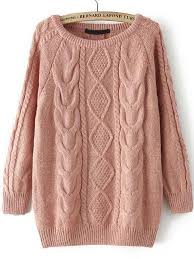 fall fashion cable knit pink sweater fashion and such