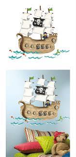 piratenzimmer wandgestaltung piratenzimmer wandtattoo piratenschiff wandgestaltung für