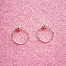 hoop earrings for cartilage 12 mm tiny silver hoop earrings with captive bead rings