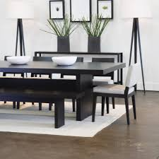 dining room modern dining set with black wood table and chair