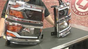 led lights for 2015 silverado chevrolet silverado projector headlight black with led daytime