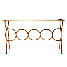 Iron Console Table Classic Gilded Iron Console Table