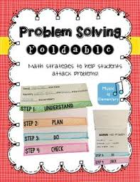 5th grade math problem solving math problem solving strategies foldable math student learning