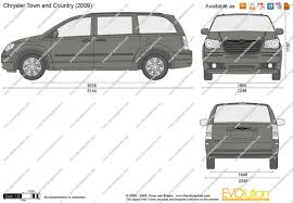 The Blueprints Com Vector Drawing Chrysler Town And Country