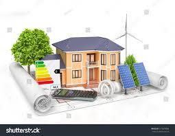 energy efficient construction house calculator solar stock