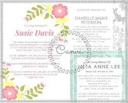 funeral invitation wording funeral invitation template best memorial service ideas images on
