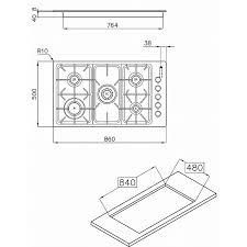 dimensioni piano cottura 5 fuochi foster 7055 062 piano cottura puntoinox