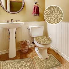 Brown Bathroom Rugs 3 Bathroom Rug Sets Home Design Ideas And Pictures