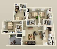 4 bedroom floor plans 2 4 bedroom small house plans 3d smallhomelover com 2 things to