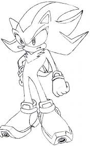 shadow hedgehog coloring pages pertaining motivate