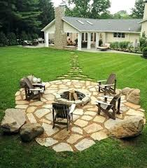 Rustic Firepit Rustic Backyard Landscaping Ideas Large Size Of Landscaping